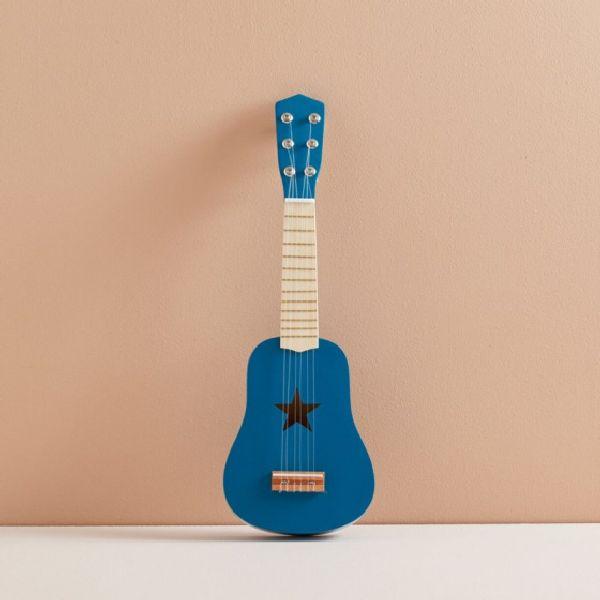 guitare bleu en bois kid's concept